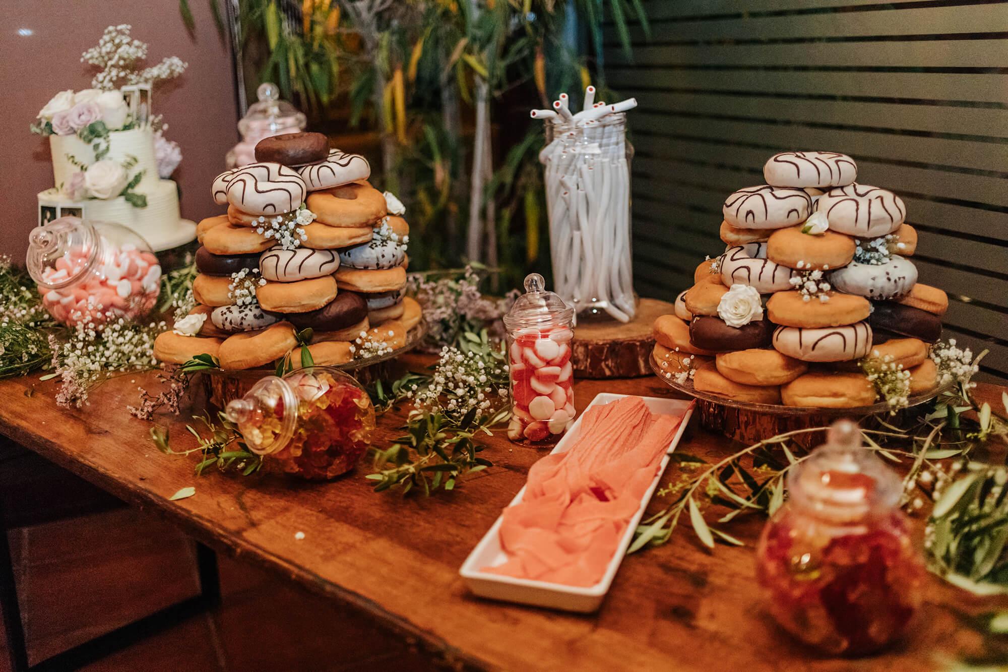 Mesa de dulces de Catering banquetes bodas Tarragona