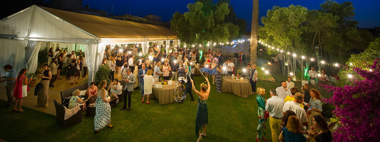 Jardines Casa Joan Miret con boda